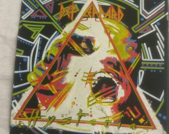 Vintage dead stock 1980's DEF LEPPARD backpatch Hysteria album
