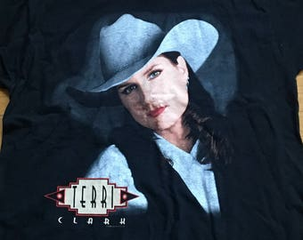 TERRI CLARK on Tour - Poor, Poor pitiful me vintage t-shirt front and back images size XL