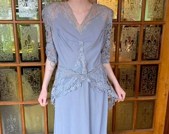 """WONDERFUL vintage 1950s """"MOTHER of the BRIDE"""" dress  size Small to Medium"""