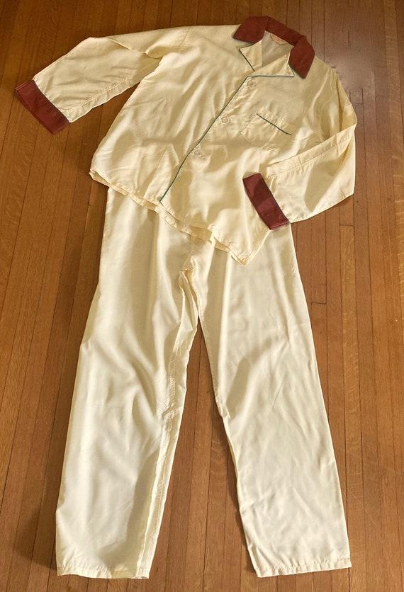 """Vintage 1940's NERDY Pyjamas by """"WILKAJAMA"""" size S"""