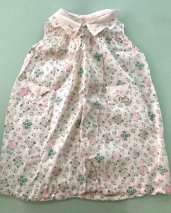 VINTAGE 1940s Little Girls FROCK - Lovely with Han