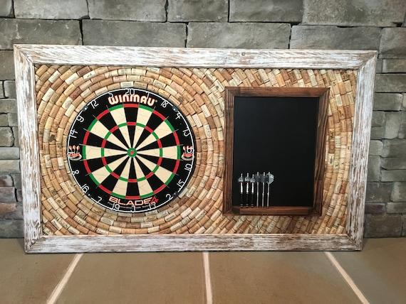wine cork dart board backerboard scoreboard 49 x etsy. Black Bedroom Furniture Sets. Home Design Ideas