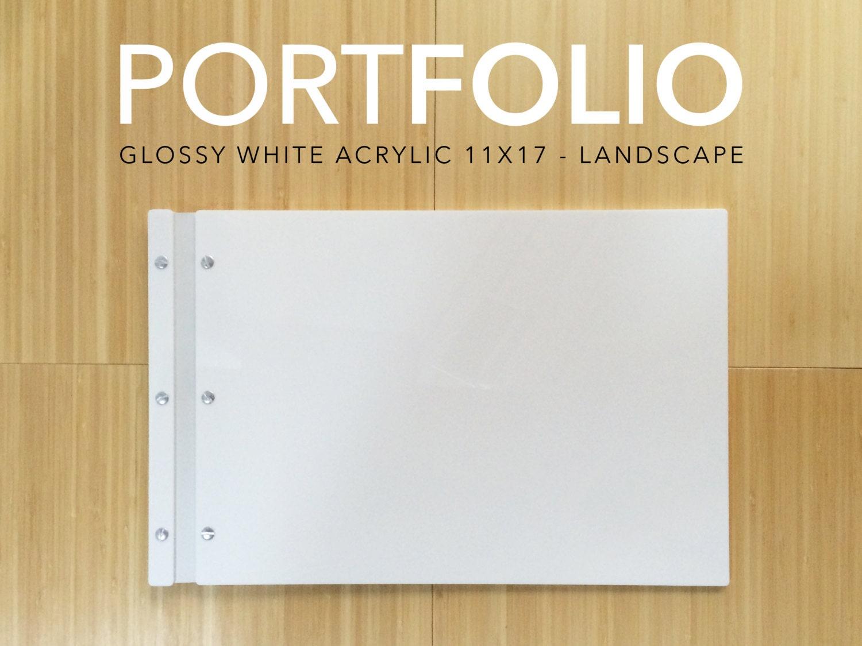 11 x 17 Landschaft weiß Acryl Portfolio elegante moderne | Etsy