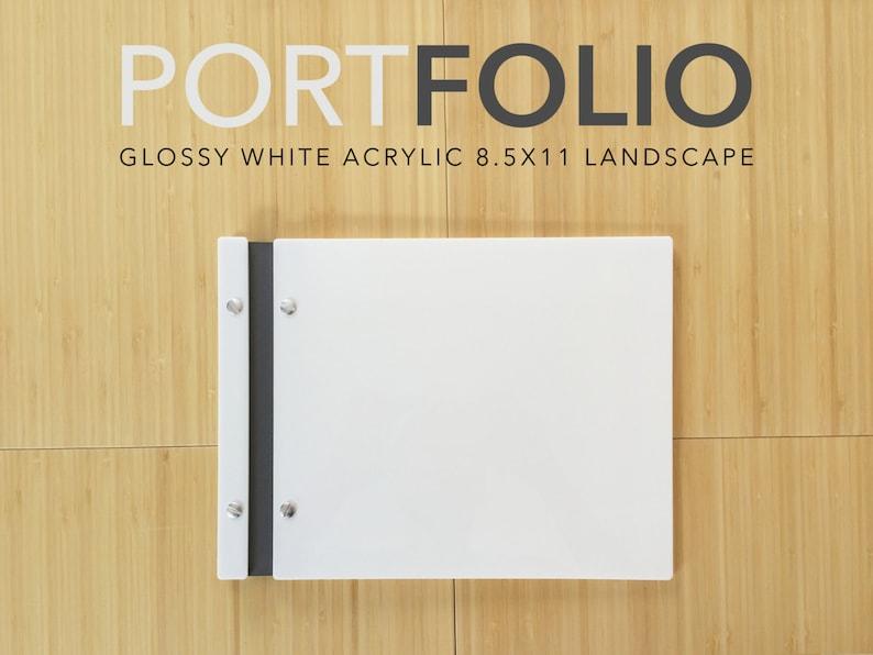 White Screw Post Portfolio 8.5x11 landscape Portfolio image 0