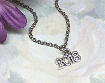 Graduation Necklace ~ Kindergarten Graduation Gift ~ 2018 Grad Necklace ~ Girls Jewelry ~ Preschool Graduation Gift ~ High School Graduation