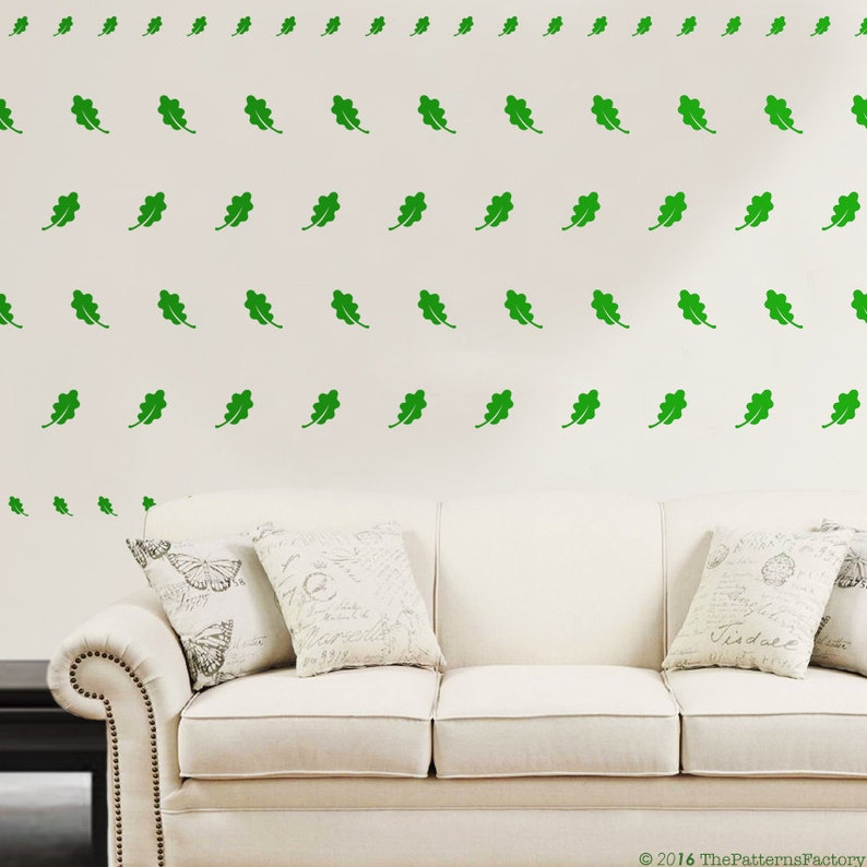 Oak Leaf pattern wall decal Nursery wall sticker Forest Pattern decal Oak leaves decor Autumn wall decal Nature pattern
