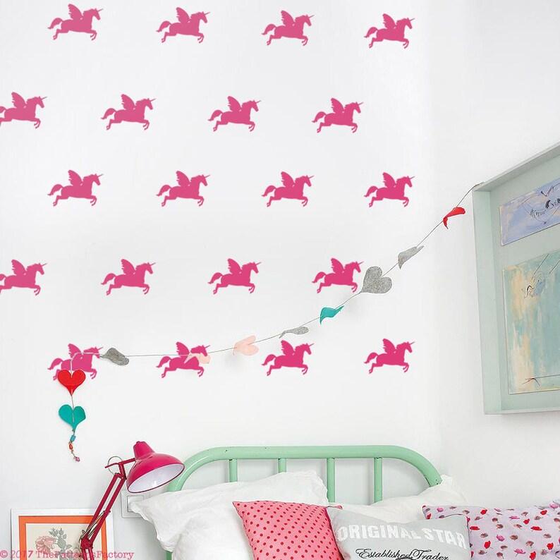 fa261703bcc4 Flying Unicorns Wall Decal   Nursery wall sticker  Unicorn
