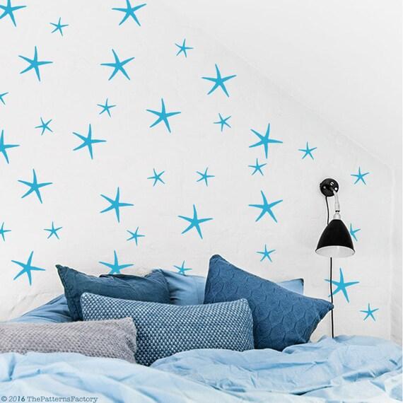 Sticker Mural étoile de mer / 96 2 tailles de Stickers étoiles | Etsy