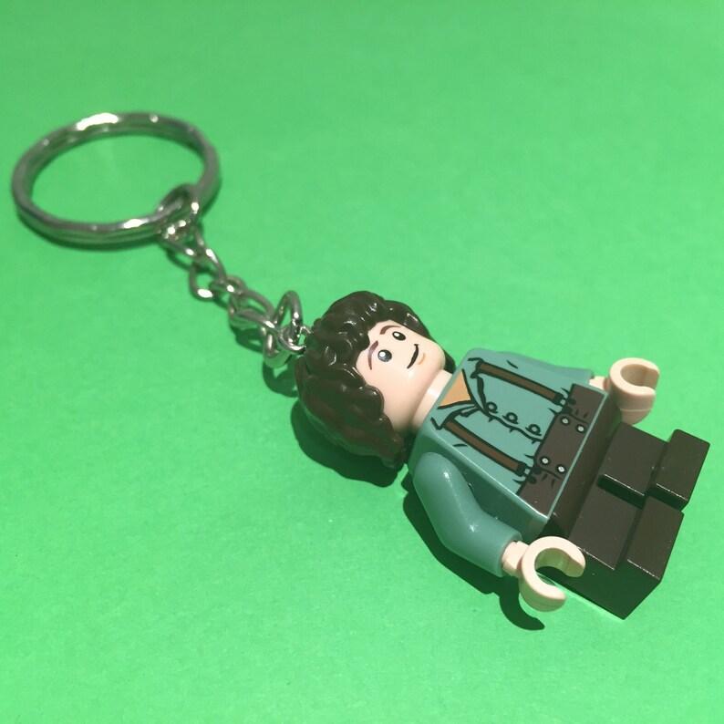 Lego Frodo Baggins Minifigure Keychain Hobbit Keyring From Etsy