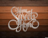 DXF CNC dxf for Plasma Laser Waterjet Plotter Router Cut Ready Vector cnc Scalable Home Sweet Home CR 16 Dxf Svg Humor Sign Home Decor