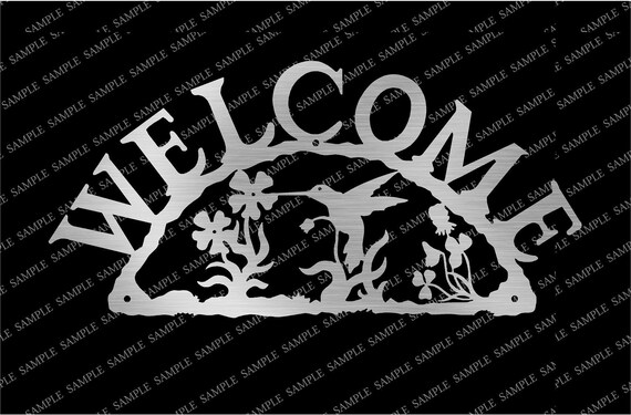 DXF CDR File For CNC Plasma or Laser Cut Clipart Graphic ART Mushroom Welcome