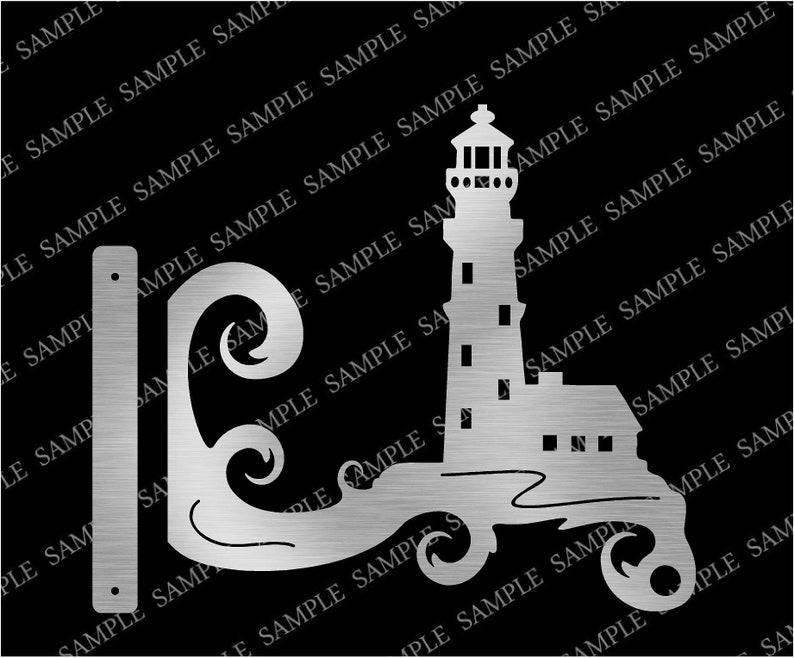 DXF CNC dxf for Plasma Laser Light House Plant Hanger Home Decor Router Cut  Ready Vector CNC file Ocean Plants