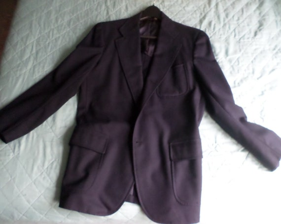 Vintage Brooks Brothers Navy wool Blazer R S Brass buttons 70's Preppy