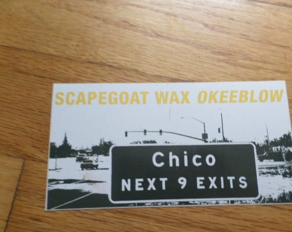 vintage 00's band sticker Scapegoat Wax Okeeblow Grand Royal (Beastie Boys fame)