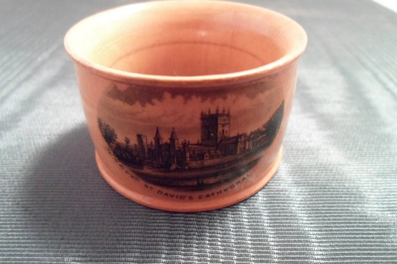 Antique Vintage Souvenir of Saint Davids Cathedral in Wales England Bent Wood Napkin Ring Cottage Chic Table Ready