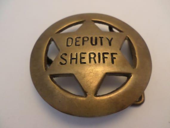 Vintage Deputy Sheriff Brass belt Buckle Vintage 70's