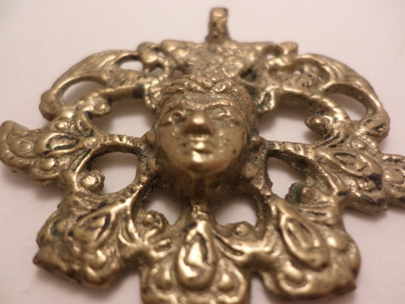 "Vintage 2"" Brass Shiva, Buddah, Godess type pendant Beautiful"