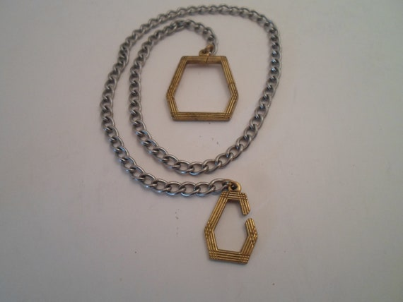 Art Deco Watch Chain and Fob Made for the Common Working Man Design on Fob and Watch Clip Zoot Sooter