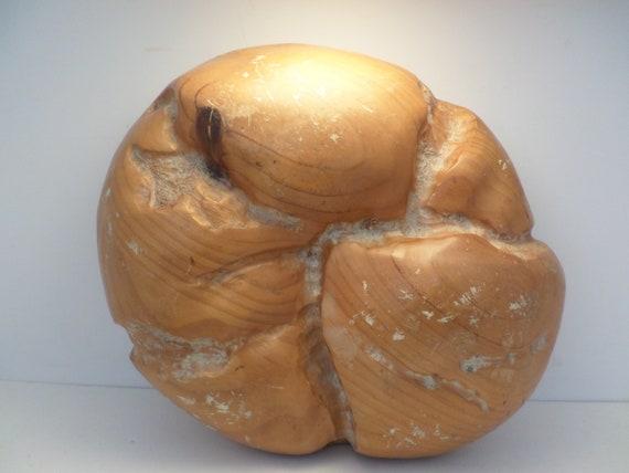 Sarreid of Spain carved heavy wood loaf of bread deli display general store vintage