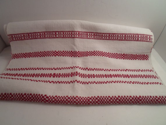 Antique Art Deco Original Eastern European Bohemian Hand Made Checkerboard Table Runner Farm to City Table Scape Chic