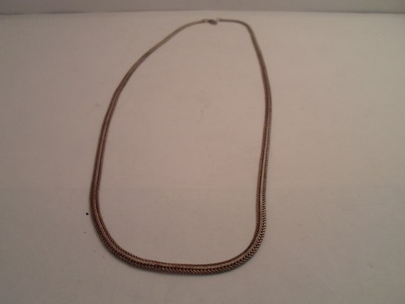 """Vintage Serpentine Sterling Silver Snake Chain 24"""" Coils like a Serpent Durable Strong Unisex Necklace"""