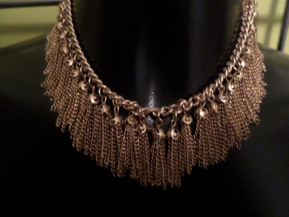 Fabulous Vintage 1960's gold tone tassle necklace amazing!