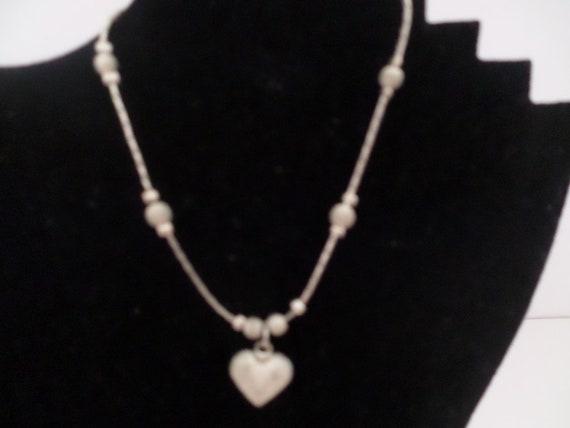 90s ANKLET vintage cool 90s silver heart anklet festival wear