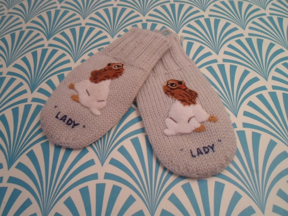 Vintage Lady child mittens Lady and The Tramp Japa