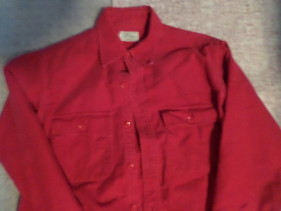 Vintage 60's L.L. Bean Red Flannel for men size L