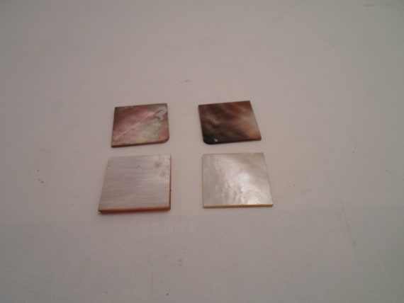 Vintage Antique Beautiful Natural Abalone Shell Mini Tiles For Jewelry Art Work Replacement or Re Purpose  Shimmering Blue Green Silver