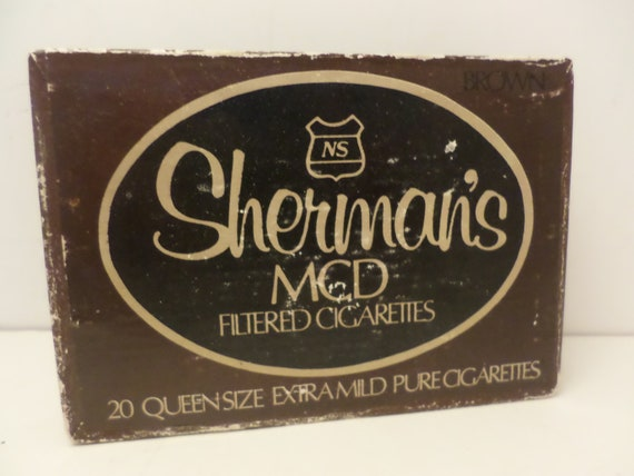 Vintage Sherman's MCD filtered cigarettes  box NYC so cool! business card box and more