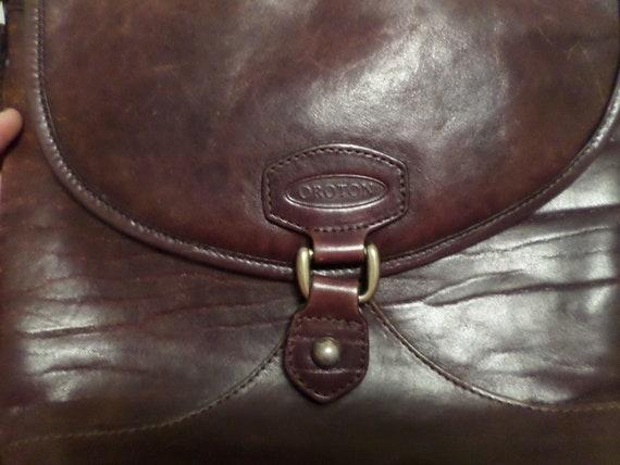 Vintage 80's Oroton chesnut brown leather crossbody purse Sydney