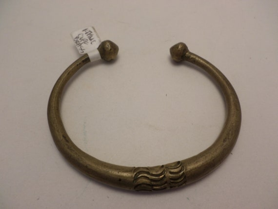 Heavy Brass arm band ethnic Egyptian from Chicago travelers estate