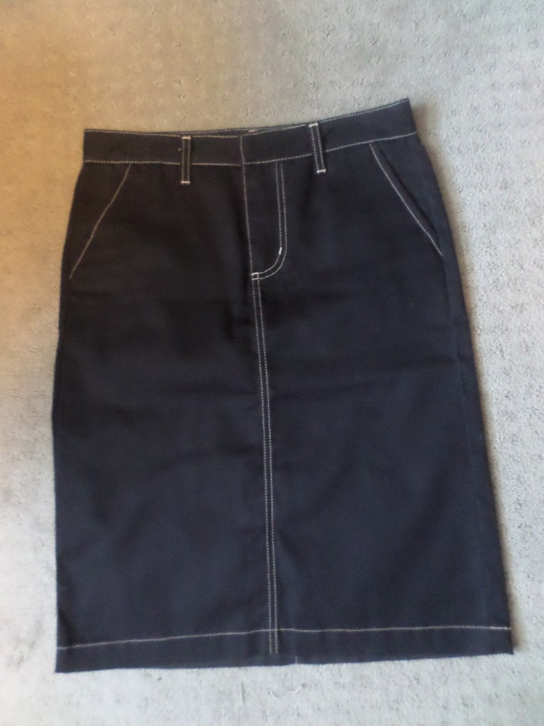 Dickies Made in USA 90/'s black work pant style skirt size 7 super cute rockabilly