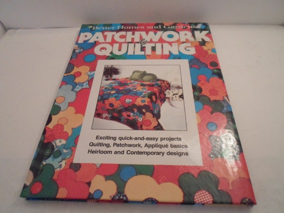 Vintage Mid Century 1977 Patchwork Quilting Book Better Homes and Gardens Fun Projects Farmhouse Chic City Cool