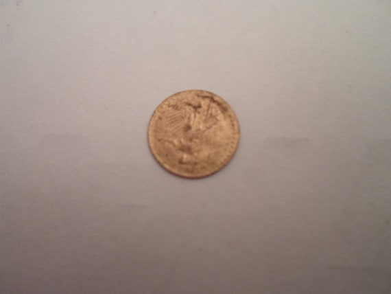 Vintage Mini St. Gaudens Eagle Gold Coin .50 gram Great for Jewelry Tiny and Adorable 22k