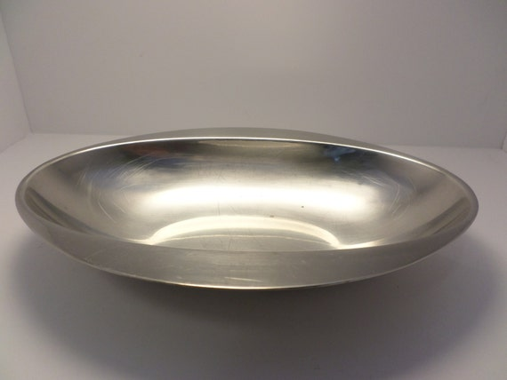Sambonet Italy Vintage oval serving bowl casserole Mid-Century Modern