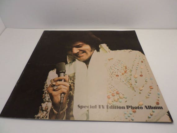 Vintage 70s Elvis Presley special TV Edition Photo Album Boxcar USA RCA