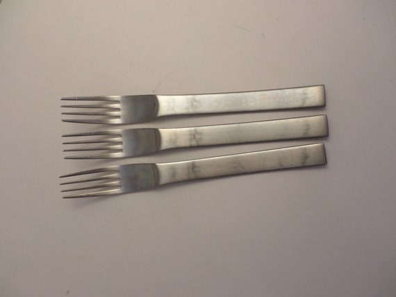 3 MODERNIST mid-Century Modern forks The main course stainless steel