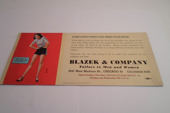 Vintage Earl Moran Advertising Ink Blotter Pin Up Girl  Show Me A Diamond and I'll Play Ball Blazek Co. Chicago  Columbus  Frameworthy