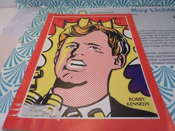 Vintage Roy Lichtenstein Robert F Kennedy Time magazine cover 1968