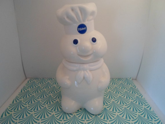 Vintage Pillsbury Dough Boy Cookie Jar 1988 marked Ceramic