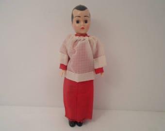 "Vintage Altar Boy Storybook 7"" Doll Catholic Religious Doll"