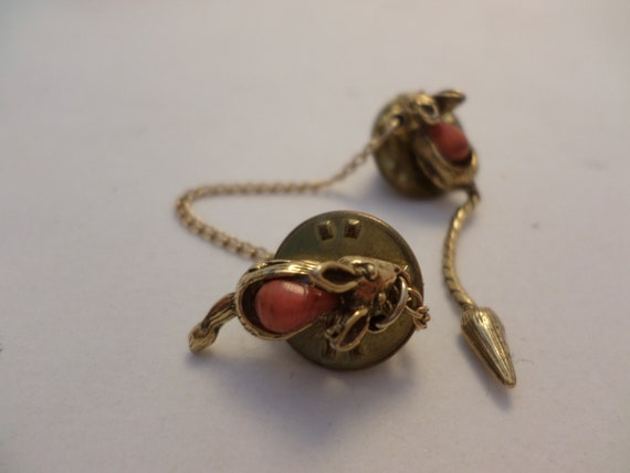 Vintage mouse mice momma mouse & baby double pin 60's