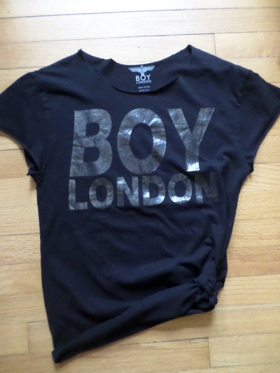 vintage 00's reconstructed BOY London Made in the USA T XS