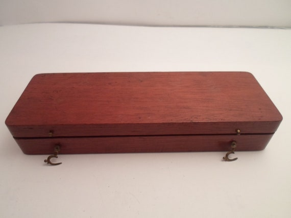 Antique Art Deco Era Walnut Instrument and Slide Box Made with care and detail Desk Top ready