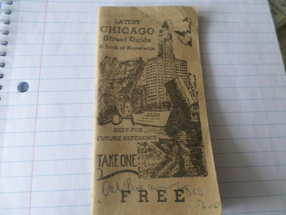 Vintage 1951 Chicago street guide articles on rectal, urine infections, gonorrhea, stds