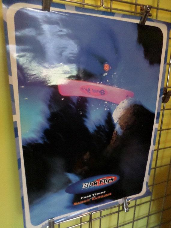 Vintage mid 90's Danny Kudrave Black Flys snowboarder poster skate shop ad