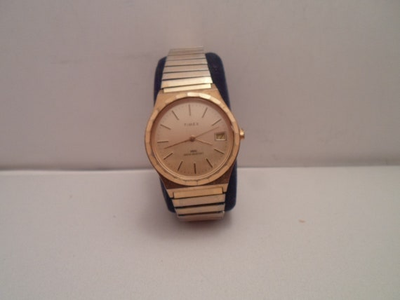Vintage Timex Date Men's Watch Working Condition 1960's Cool Mad Men Look