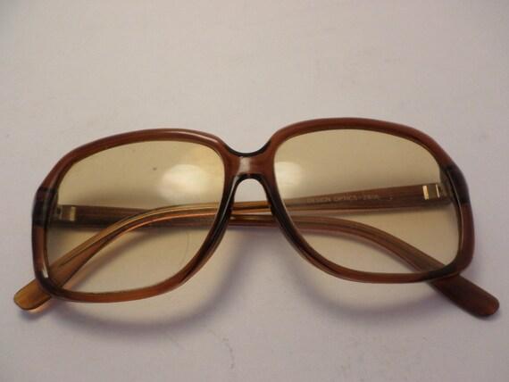 vintage readers sunglasses 70's Design Optics 1.75 square shape